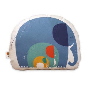 Kleines Kissen Elefanten aus Bio-Baumwolle - TELL ME