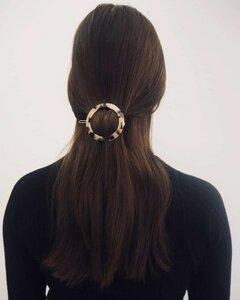 Runde Haarklammer CIRCLE HAIR CLIP aus Acetat - JAN N JUNE