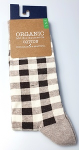 Karierte Biobaumwolle Socke - VNS Organic
