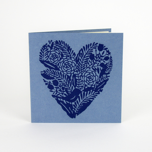 Grußkarte Herz aus handgeschöpftem Jutepapier - Sukham
