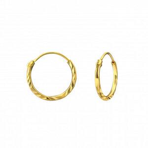 Kleine Creolen Ohrringe facettiert- 925er Sterling Silber - Gold - LUXAA