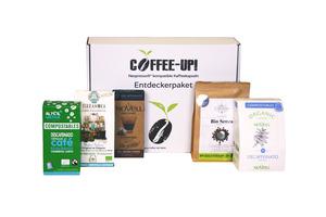 Entdeckerpaket: 5 verschiedene entkoffeinierte Sorten – kompostierbare & aluminiumfreie Bio-Kaffeekapseln, Nespresso® kompatibel  - Coffee-Up!