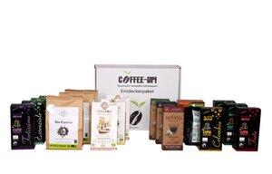 Coffee-Up-Entdeckerpaket: 19 verschiedene Sorten Espresso-Kaffeekapseln – aluminiumfrei, kompostierbar & Nespresso® kompatibel  - Coffee-Up!