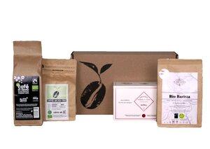 Entdeckerpaket hochwertiger Bio-Kaffee (ganze Bohne) und Tee - Coffee-Up!