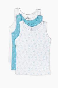 "Unterhemd aus Bio-Baumwolle ""Katzen"" Blau OceanBluu - OceanBluu"