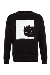 Fair gehandelter Fox in the box Unisex Raglan Sweater grey/black ILP01 - ilovemixtapes