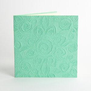Grußkarte aus handgeschöpftem Jutepapier mit Relief-Muster - Sukham