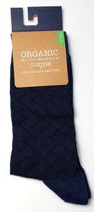 Schwarz karierte GTS zertifizierte Bio- baumwolle Socke - VNS Organic