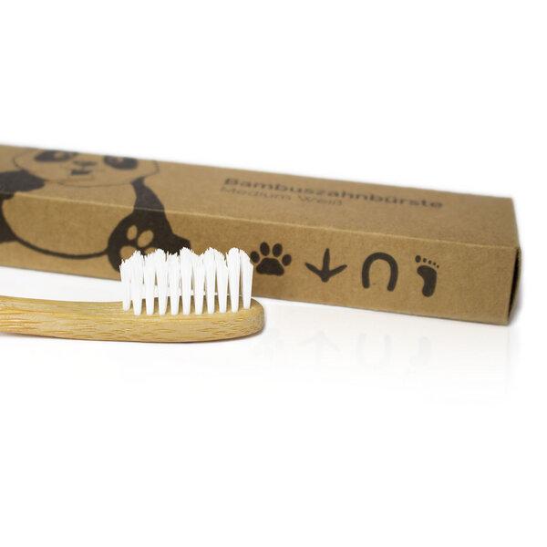 Bambus Zahnbürste Einzeln (Medium)