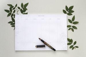 Weekly Planner – Wochenplan, To-Do-Liste, Schreibtischunterlage   - STUDIO KARAMELO