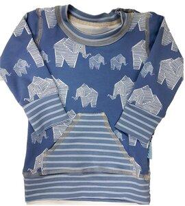 Babyshirt Elephant - stonewashed - Einzelstück Gr. 74 - Omilich