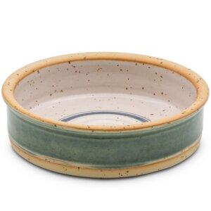 Keramiknapf Kraftspiralen grün für Hunde & Katzen  - naftie