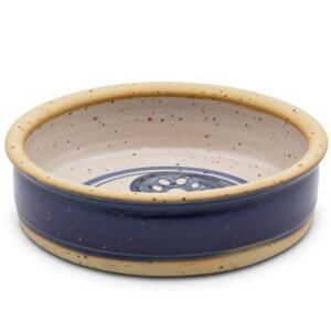 Keramiknapf in blau HARMONIE für Hunde & Katzen  - naftie