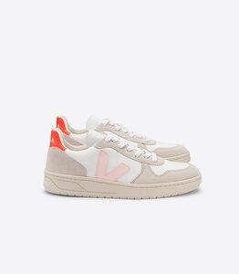 Sneaker Damen - V-10 B-Mesh - White Petale Orange Fluo - Veja