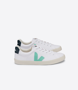 Sneaker Damen Vegan - Esplar SE Canvas - White Turquoise Nautico - Veja