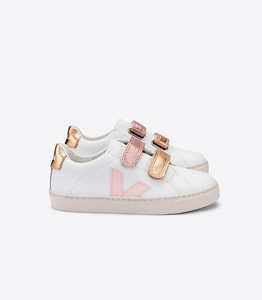 Sneaker Kinder - Junior Small Esplar Velcro Leather - Extra White Petale Venus - Veja