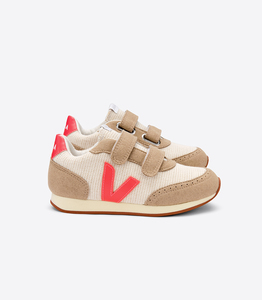 Sneaker Kinder - Junior Small New Arcade B-Mesh - Natural Rose Fluo Butter-Sole - Veja