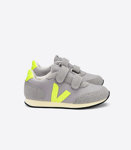 Sneaker Kinder - Junior Small New Arcade B-Mesh - Silver Jaune Fluo Butter-Sole - Veja
