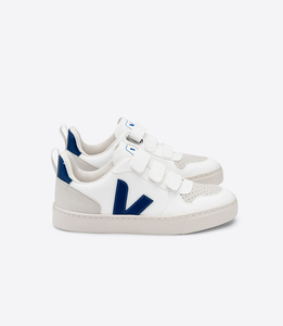 Sneaker Kinder Vegan - Junior Small V-10 Velcro CWL - White Cobalt - Veja