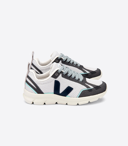 Sneaker Kinder - Junior Small Canary Alveomesh - Light Grey Nautico Turquoise - Veja