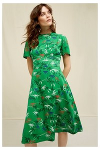 People Tree V&A Bamboo Print Obi Dress - People Tree