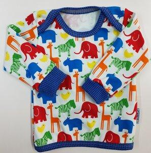 Babyshirt Zootiere - Einzelstück Gr. 68 - Omilich