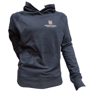Seenotretter Unisex Recycled Organic Pullover mit Kapuze - MISSION LIFELINE
