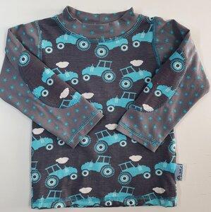 Baby-/Kinder-Shirt/Longsleeve Traktor blau-grau - Omilich