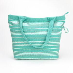 Handtasche, Shopper, Schultertasche - handgewebt - lila & türkis - Sukham