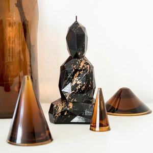 Buddha Kerze Meister Serie - glanzveredelt und goldgesprenkelt - Burning Buddha