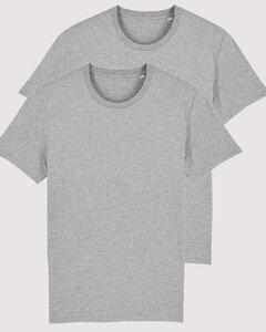 2er Pack Basic Öko T-Shirts aus dickerer Bio-Baumwolle für Damen & Herren - YTWOO