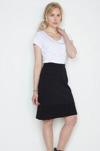 schwarzer Rock Jana aus Biomerinowolle - Susan's Fashion