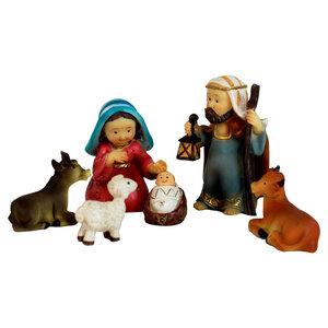 Krippenfiguren Heilige Familie, 6er Set Krippenfiguren - Mitienda Shop
