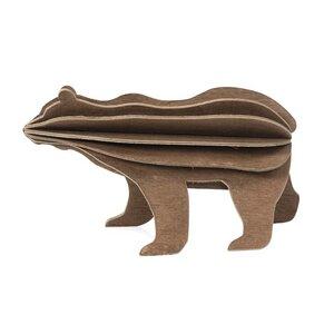 3D Grußkarte & Holz Stecksystem- LOVI Bär  - Lovi