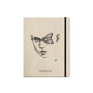 "Notizbuch Graspapier ""Moths and myths"" (black/carton) - Swiss Brochure - Matabooks"