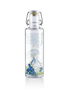 """soulbottle 0,6l • Trinkflasche aus Glas • """"Korallenreich"""" - soulbottles"""