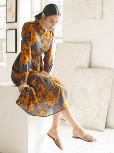 Langes Blumen Kleid - Eugenia Dress - Thought