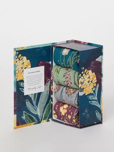 4er Set Socken Blumen - Garden Flowers Sock Box - Thought