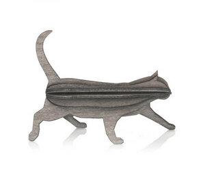 3D Grußkarte & Deko aus Birkenholz - LOVI Katze - zum Selberbasteln - Lovi