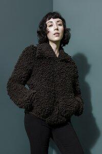 Blouson handgestrickt aus Baby-Alpaka - INTI Knitwear