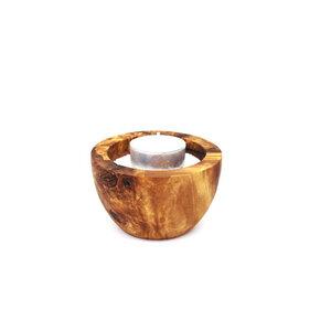 Teelichthalter aus Holz - Wellness  - Mitienda Shop