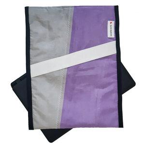 Notebook-Tasche upcycelt aus Hängegleitersegel / Segeltuch UNIKAT - Beachbreak
