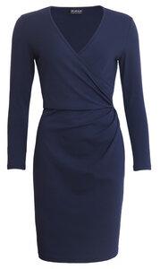 Bio Jersey-Kleid mit Wickeloptik und V-Ausschnitt - bill, bill & bill