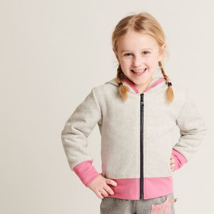 "Fleecejacke ""Fleece Grau"", 100% Bio-Baumwolle - Cheeky Apple"