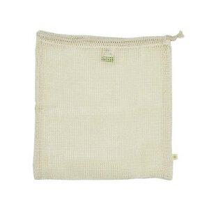 Lebensmittel Beutel aus Bio Baumwolle Large - Meshgewebe - A Slice of Green