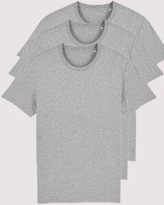 3er Pack Basic T-Shirts meliert, Mehrfachpack, mittelschwere Stoffqualität - YTWOO