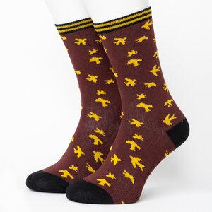 Sparrow Pattern Socks - Opi & Max