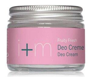 Natürliche Deodorant Creme - Fruity Fresh  - I + M Naturkosmetik