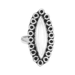Ring Silber Katzenauge Statement handmade hochwertig schick Fair-Trade - pakilia