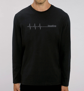 Deadline Langarm T-Shirt / Long sleeve in Schwarz & Grau - Picopoc